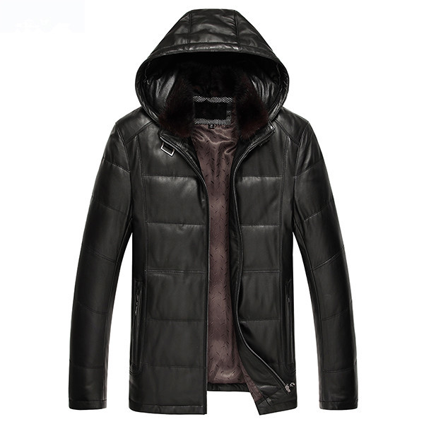 Genuine Leather Jacket Sheepskin Duck Down Jacket Autumn Winter Jacket Men Plus Size Coat Chaqueta Hombre JLK15726MY1203