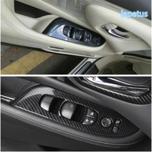 Lapetus Inner Door Handle Holder Window Lift Button Switch Decoration Frame Cover Trim For Nissan Murano 2015 2016 2017 2018 ABS lapetus inside car door handle panel surround window lift switch cover trim abs accessories interior fit for audi q2 2017 2020