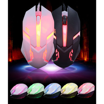 7 Colors LED Backlight S1 Gaming Mouse USB Wired Gamer Mouse Silent Mice Gaming Mouse For PC Laptop image