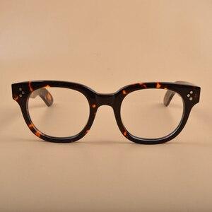 Image 2 - New Johnny Depp Glasses Men Women Optical Glasses Frame Brand design Computer Transparent Eyeglass Acetate Vintage Q321 2