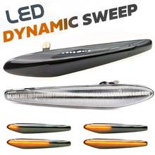 2 pçs dinâmico led lado marcador luz piscando lateral volta repetidor lâmpadas para alfa romeo boera aranha 159 sportwagon typ (939)
