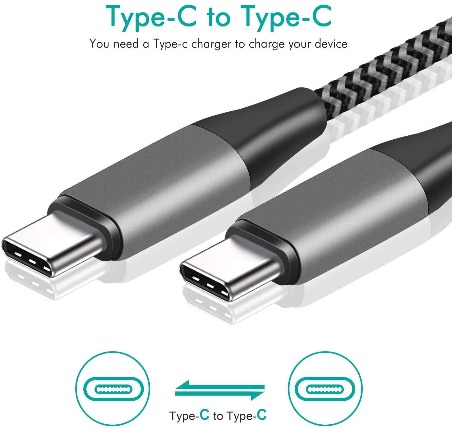 USB C TO USB C Cable USB PD 60W For Samsung S 20 10 Note10 Note9 For Fast Charging USBC Cable for Macbook Air HUAWEI P20 P30 Pro