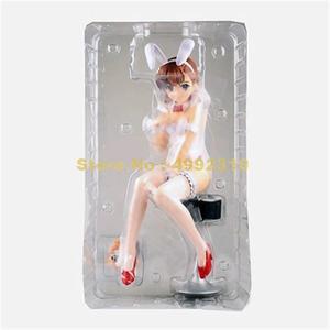Image 4 - Anime toaru kagaku hiçbir railgun mikoto misaka 1/4 ölçekli tavşan ver. Pvc action figure koleksiyon model bebekler 36cm oyuncak
