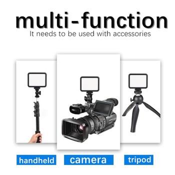 BEIYANG K60 5500K Mini Led Fill Light Portable Camera Lamp Live Video Shooting Ring Light Blogger Photography conference Lamp 12