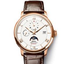 HAZEAL גברים שעונים אוטומטיים מותג יוקרה עצמית רוח מכאנית שעוני יד שעון שמלת mens montre homme עם חודש שבוע תאריך