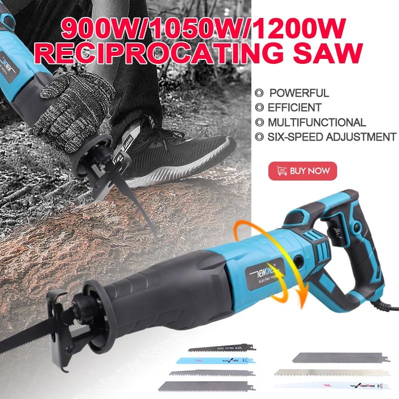 Reciprocating Saw Handsaw Saber Saw Sierra Sabel 710W 900W 1050W 1200W Metal Woodworking frozen-meat Bone Cutting Sawblades Kit