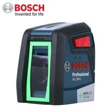 BOSCH poziom lasera GLL30G zielone światło poziomy pionowy precyzyjny dwuliniowy Instrument wewnętrzny lub zewnętrzny automatyczny poziomowanie