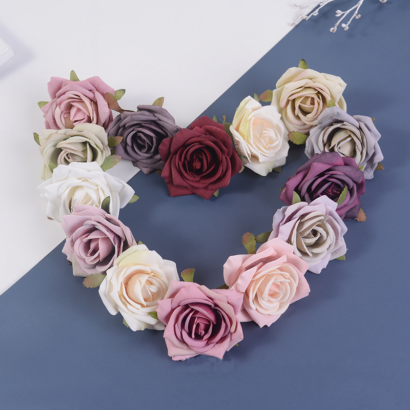 JAROWN Artificial Silk Roses Flowers Scrapbook Wedding Home Decor DIY Gifts Box Christmas Garlands Household Products Fake Flowers (5)