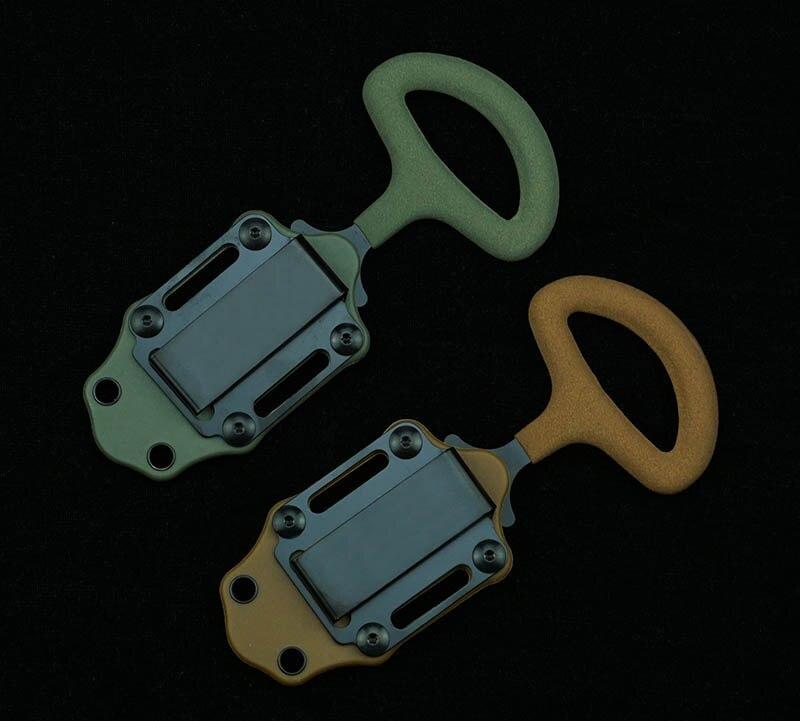 Tools : LEMIFSHE BM175BK fixed 440C steel K sheath vinyl coated handle outdoor camping EDC tool