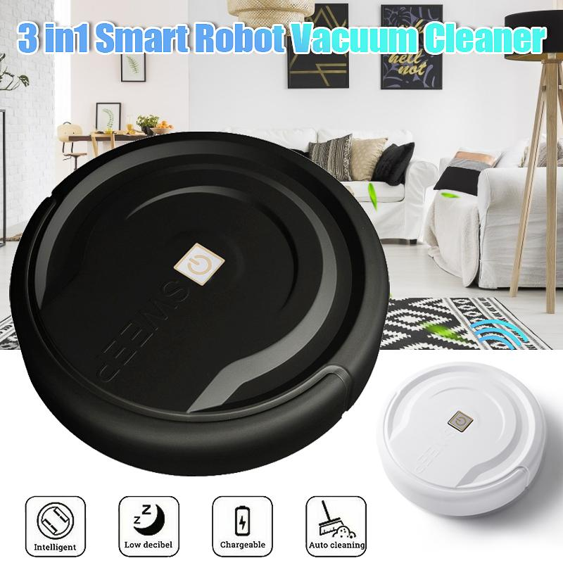 3in1 Smart Robot Vacuum Cleaner Navigated Multifunctional Mopping Sweeping Automatic Sweeper Sensor Edge Home Room Clean Machine      - AliExpress