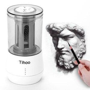 Image 2 - Tenwin القرطاسية التلقائي المهنية Eelectric براية أقلام USB Tenwin الثقيلة الفن رسم تعمل مكتب المدرسة