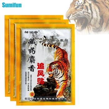 24pcs Tiger Balm Patch Analgesic Cream Chinese Herbal Medical Plaster Meridians Stress Relief Arthritis Rheumatoid Painkiller 8 48 64pcs joint aches painkiller medical plaster chinese herbal extract knee rheumatoid arthritis pain relief patch health care