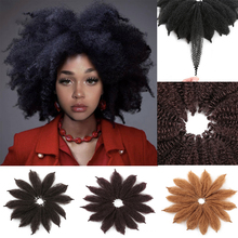 Hair-Extensions Marley Braids Crochet Braiding Twist Black Synthetic for Woman Soft-Afro