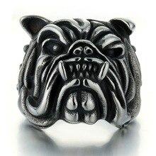 Punk Retro Pitbull Bulldog Mens Ring Gift For Man