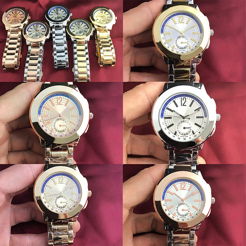 RLLEN Stainless Steel Men Women Couples Quartz Watches Fashion Luxury Jewelry Gift Wedding Exquisite Charm Retro Original Copy