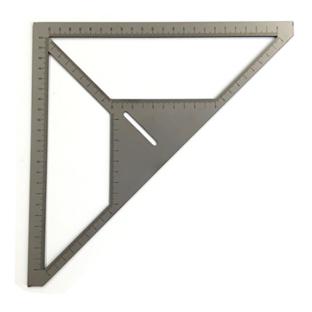Economic Multifunction Pattern Tile Ruler Floor Drain Ruler Bricklayer Stainless Steel Flower Builder Triangle Ruler