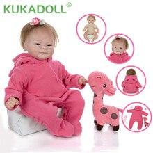 Kukadoll newset 17 Polegada reborn bebê menina boneca 42 cm pano corpo bebe reborn realista bonecas para a criança educação precoce presentes de natal