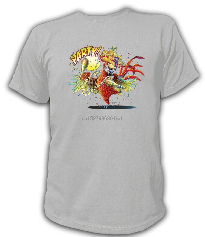 T-shirt 17866-Papegaai-Party! Papegaai Goede Party Fan Grappige Alcohol Bier Usa