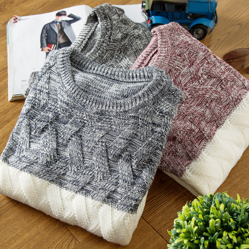 DIMUSI Autumn Winter Men s Sweaters Fashion Mens O Neck Slim Fit Pullover Sweater Man Wool