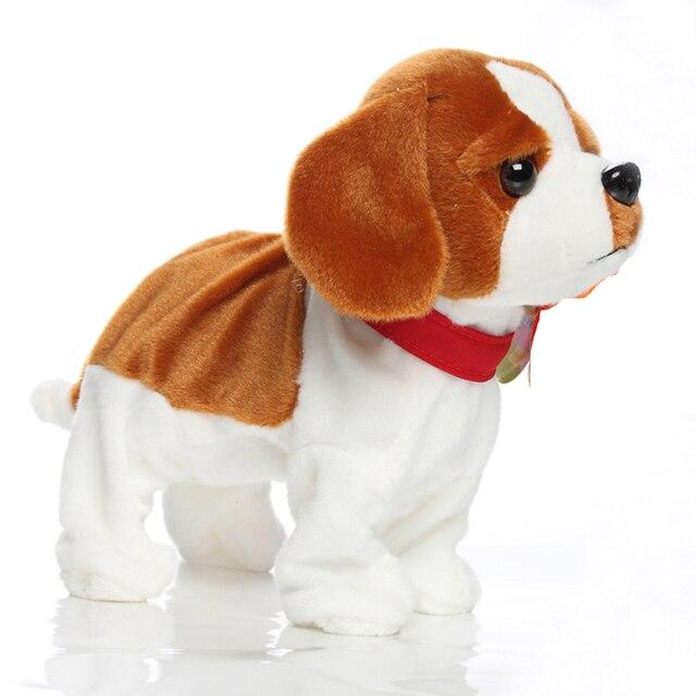 Drôle électronique animaux de compagnie contrôle du son Robot chiens aboiement support marche mignon interactif jouets chien électronique Husky pékinois enfants jouets