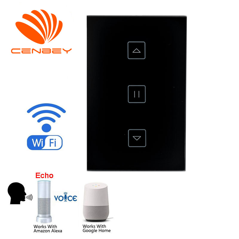 US wifi shutter switch curtain controller wifi smart curtain switch <font><b>Casa</b></font> <font><b>Inteligente</b></font> <font><b>Google</b></font> <font><b>Home</b></font> Amazon Alexa Voice Control image