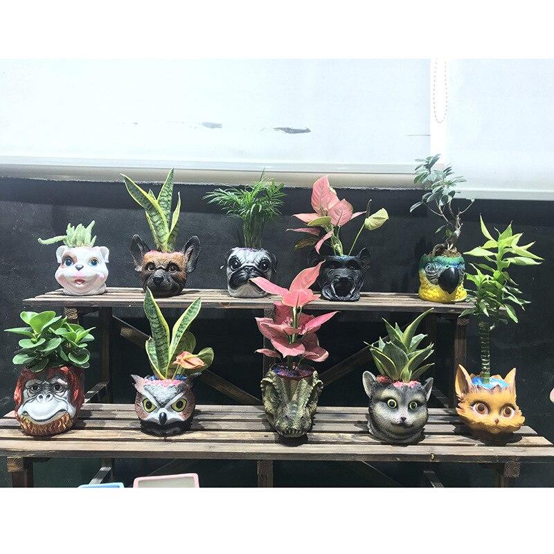 YeFine Resin Outdoor Flower Pot Big Planter Pots Cartoon Design Garden Succulent Bonsai Pots Balcony Decorations 6