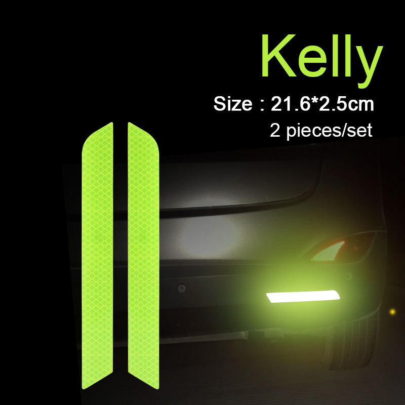 Car Reflective Sticker Rear Bumper Open the Door Warning Sticker for Car Exterior Protection Auto molding Decoration Accessories