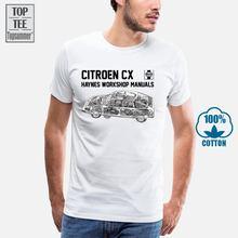 Французская Классическая футболка citroen cx классная винтажная