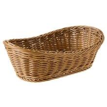 Овальная плетеная лоза, корзина для хлеба, Сервировочная корзина, 11 дюймов корзина для хранения продуктов, фруктов, косметическая корзина для хранения, столешница и Ванна