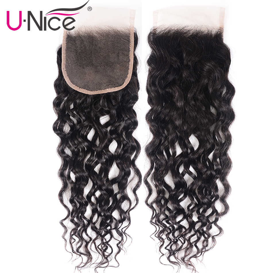 UNice Hair Kysiss Series Water Wave Virgin Hair Peruvian Human Hair Weaving Water Wave Bundles with Closure Virgin Hair
