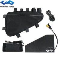UPP PVC trójkąt eBike bateria 48V 52V 20Ah elektryczne baterie rowerowe z miękka torba dla 1800W 1500W 1000W 500W silnik Bafang w Akumulator do rowerów elektrycznych od Sport i rozrywka na