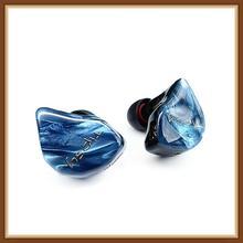 Tipsy Blue Aurora Balanced Armature BA Hifi Music Monitor Studio DJ In-Ear Earphone with 0.78mm 2Pin Detachable Cable Earbuds helloear arc balance armature earphones in ear dj hifi earplhone monitor iem with 2pin 0 78mm detacheable cable k3003 w4r se846