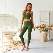2 Pcs Sports Yoga Suits Seamless Yoga Set Women Fitness Clothing Sportswear Woman Gym Leggings Padded Push-up Strappy Sports Bra 3 pcs sports suits yoga set workout women fitness clothing breathable running sportswear woman gym leggings push up athletic bra