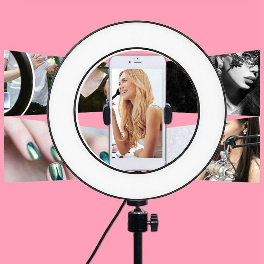 cheapest 10inch Selfie Ring Lamp Led Ring Light Bluetooth Selfie stick For Phone Video Photography Lighting For Youtube Phone Holder