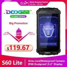 Vận Chuyển Nhanh DOOGEE S60 LITE Chắc Chắn Điện Thoại IP68 Không Thấm Chống Bụi Không Dây Điện Thoại Di Động 5580MAh 4GB 32GB NFC điện Thoại Thông Minh
