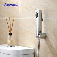 Aqwaua Toilet Bidet Shower Hand Sprayer Shower Head Bathroom Chrome Plated Wholesale Hygienic Shower Accessories for Bathroom bidet hand sprayer toilet showerhand bidet -