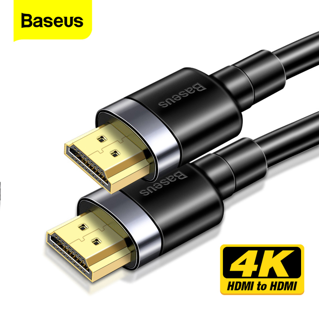 Baseus 4K HDMI Cable to HDMI 2.0 Cable For PS4 TV Box Projector Digital Splitter Displayport Switch 60HZ Video HDMI Wire Cord