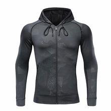 Для мужчин куртка для бега спорта Фитнес одежда с длинным рукавом