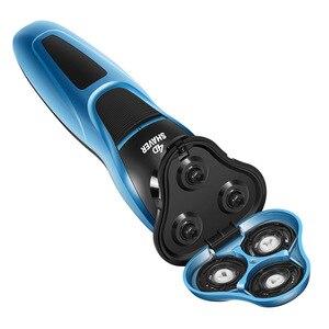 Image 5 - 電気シェーバー 4Dフローティングカミソリヘッド充電式シェービングマシン全身洗えるあごひげトリマー男性フェイスケアツール 40D