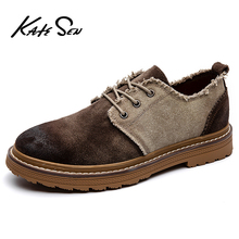 KATESEN Brand 2019 Spring Suede Leather Men Shoes Oxford Casual Classic Sneakers For Male Comfortable Footwear