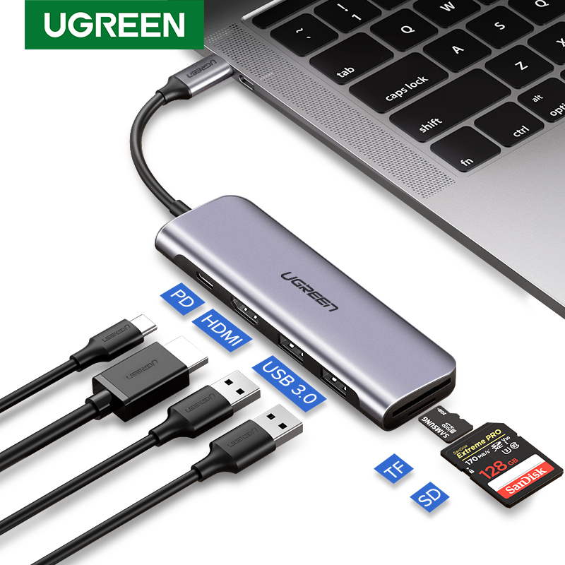Usb-кабель Ugreen с разъемом HDMI, адаптер типа с-HDMI для концентратора USB-C, конвертер HDMI с разъемом type-C Thunderbolt 3, док-станция для MacBook huawei mate 30 Pro