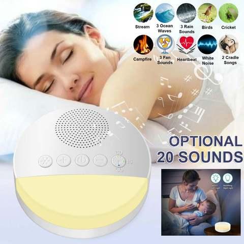 usb portatil recarregavel maquina de ruido branco cronometrado desligamento sono maquina de som para dormir