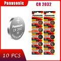 10 шт., оригинальный новый аккумулятор для PANASONIC cr2032 3 в, кнопочные элементы, батарейки для часов, компьютера cr 2032