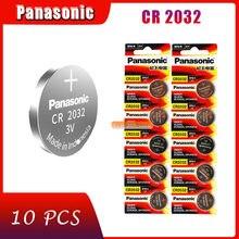 10 sztuk oryginalna fabrycznie nowa bateria do PANASONIC cr2032 3v komórka przycisku baterie monety do zegarka komputer cr 2032