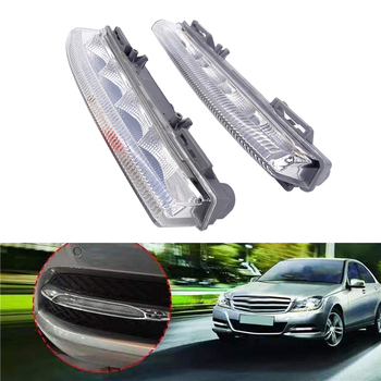 цена на 1 Pcs/Pair Car-Styling LED DRL Daytime Running Light Fit For Mercedes Benz C-Class W204/S204 2011-2014 W213 2013 R172 2012 2013