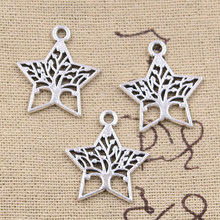10pcs Charms star life world tree 23x21mm Antique Silver Plated Pendants Making DIY Handmade Tibetan Silver Finding Jewelry(China)
