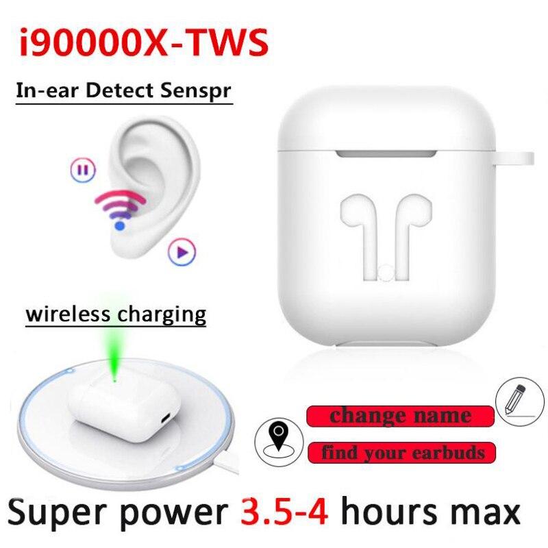 Neue i90000X TWS 1: 1 In-ohr drahtlose Bluetooth kopfhörer name geändert + GPS positionierung smart sensor pk i9000 i90000 pro i100000 TWS