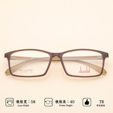 TR90 Square Large Frame Light Tough Fashionable Comfortable Not Pinching Face Men #8217 s And Women #8217 s General Myopia Glasses cheap OEYEYEO Unisex Solid XH5004 FRAMES Eyewear Accessories 6 colors Lens cloth box small screwdriver pads need to buy in additional
