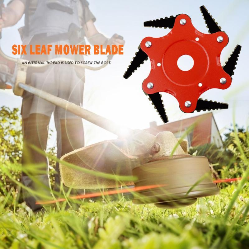 65Mn Manganese Steel Cutter Blade 6 Teeth Grass Durable Trimmer Head Lawn Weeding Garden Tools Supplies Accessories