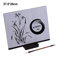 Paint Buddha-Board Meditation-Art Mindfulness Reusable with Water-Brush Stand Stand